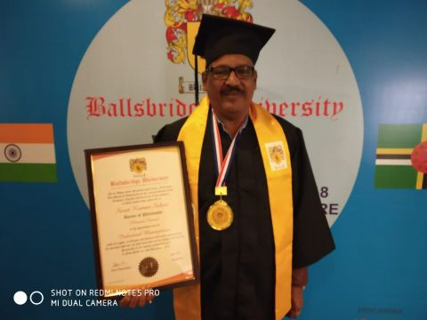 Mr Sarat Sahoo gets doctorate